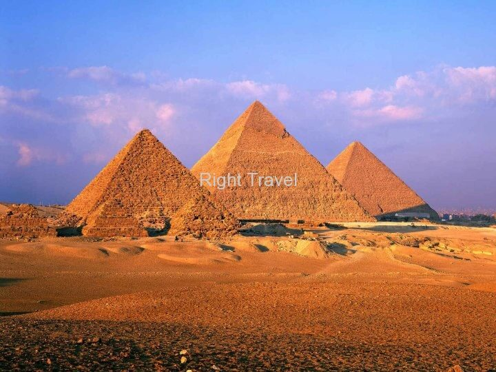 Cairo Great Pyramids Sunset
