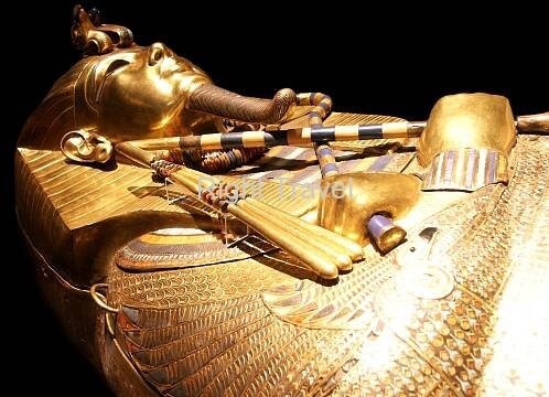 Gold coffin of Tutankhamun