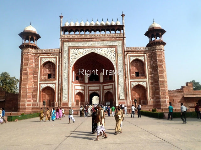 India Agra Main Entrance Taj Mahal
