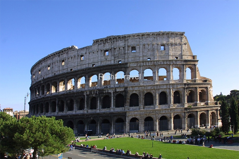 Italy Rome Colosseum Close