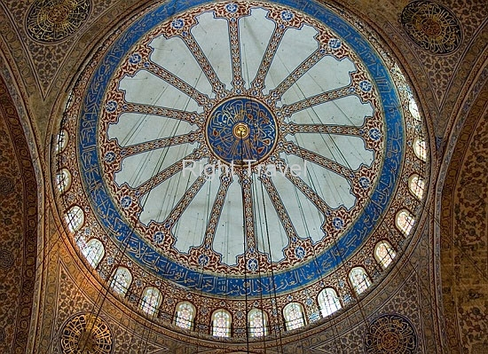 Turkey Istanbul Blue Mosque Inside