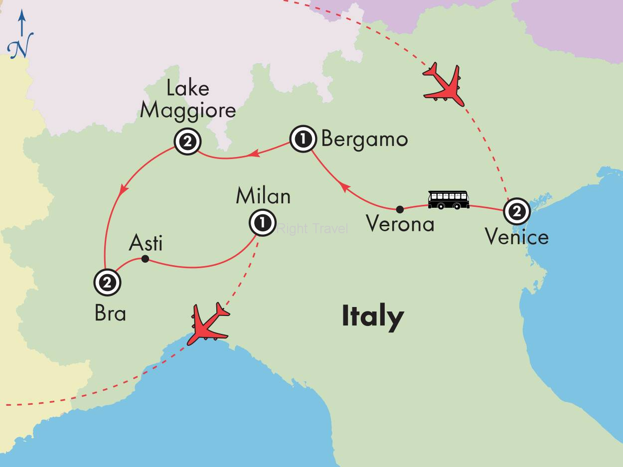 10 Day Northern Italy, Mountains & Lakes