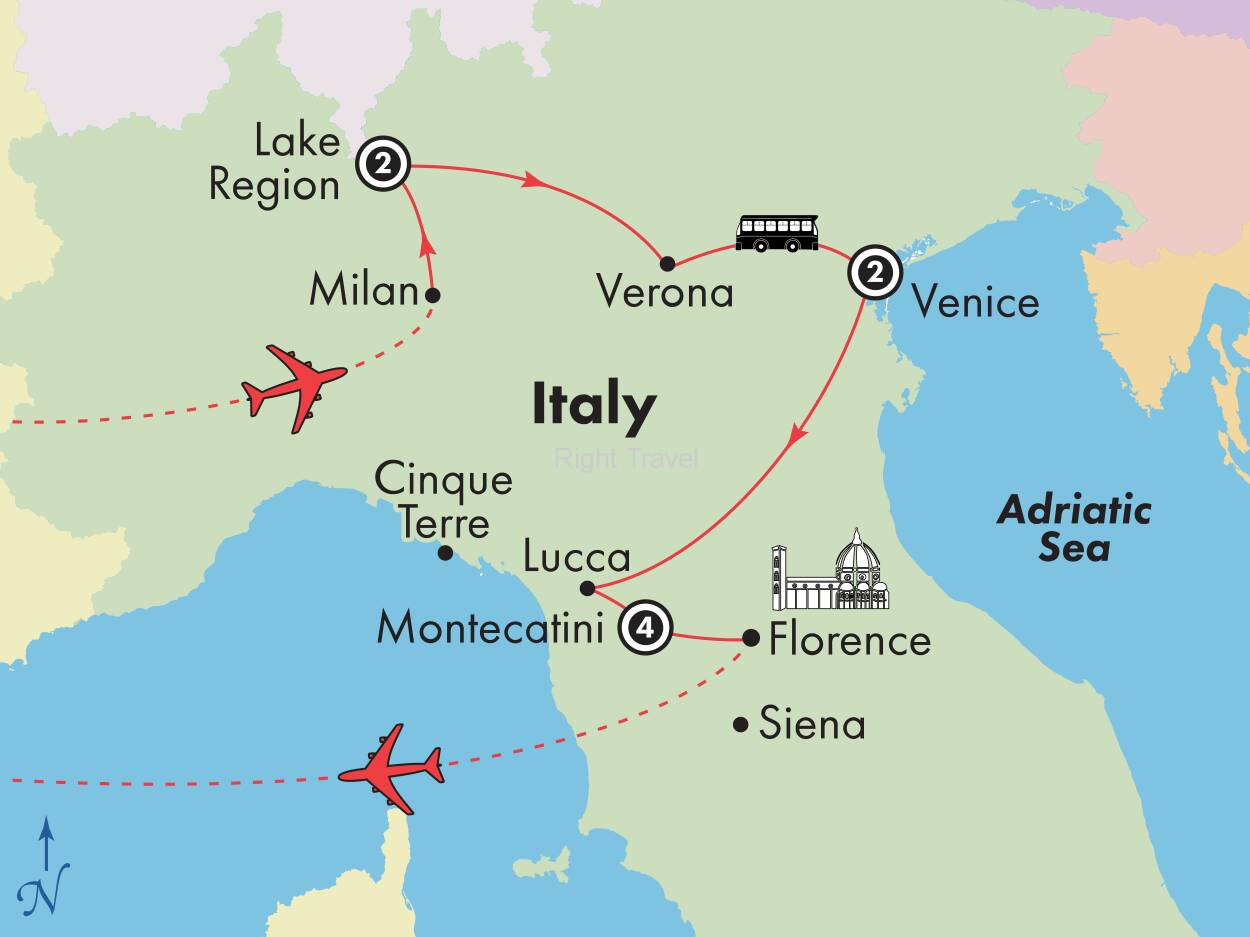 10 Day Northern Italy with Venice & Tuscany