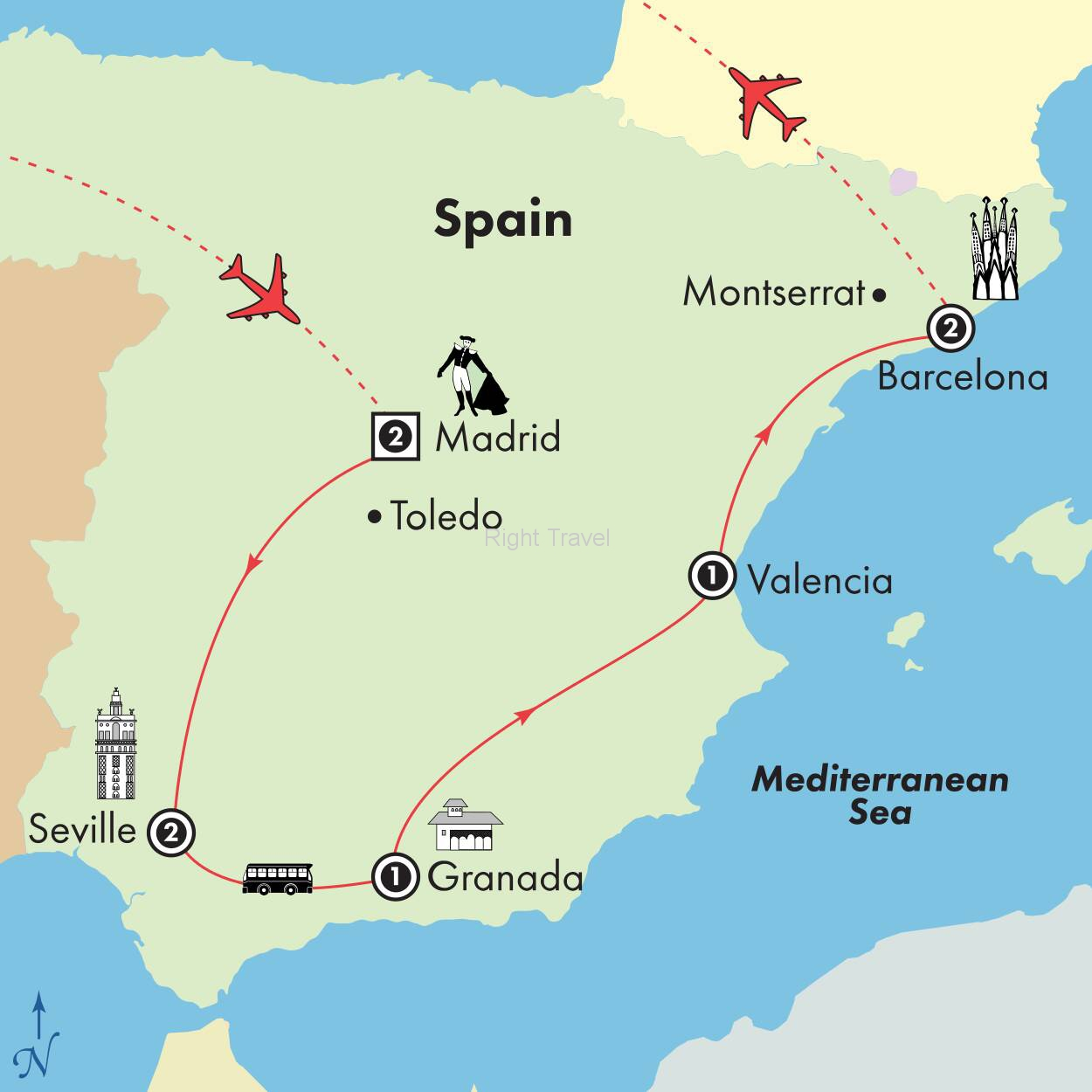 10 Day Affordable Spain