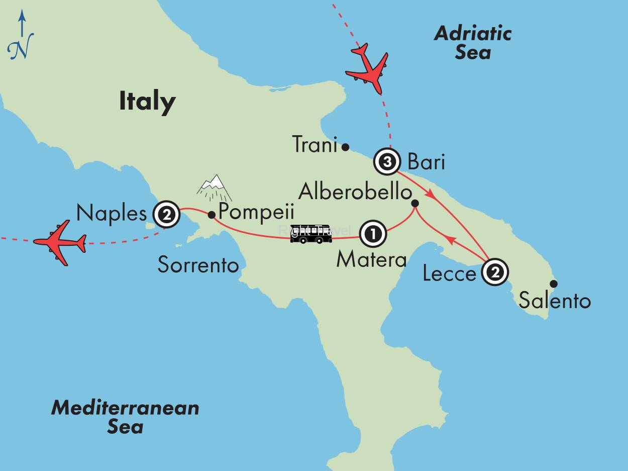 10 Day Affordable Southern Italy, Puglia & Campania