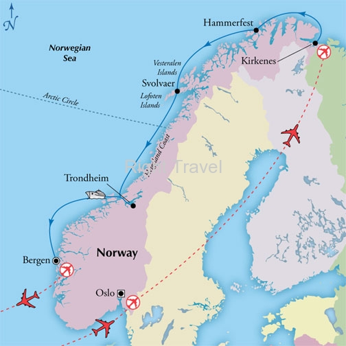 10 Day Affordable Norway with 5 Day Scenic Coast Cruise