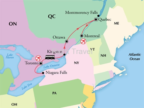 10 Day Canada with Toronto, French Quebec & Niagara Falls