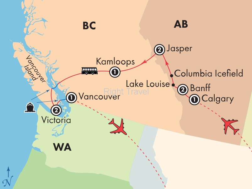 10 Day Canadian Rockies with Victoria & Vancouver