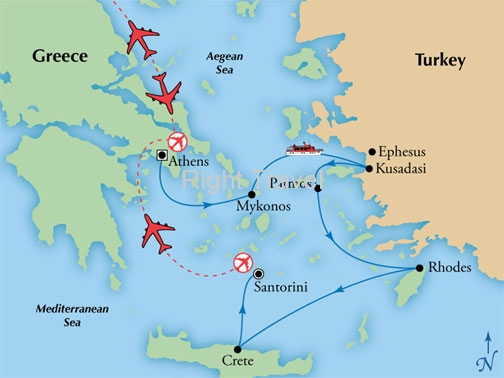 11 Day Athens & Santorini with 4 Day Iconic Aegean Cruise