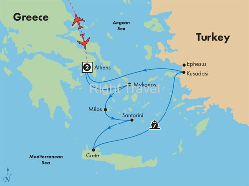 11 Day Athens with 7 Day Aegean Cruise