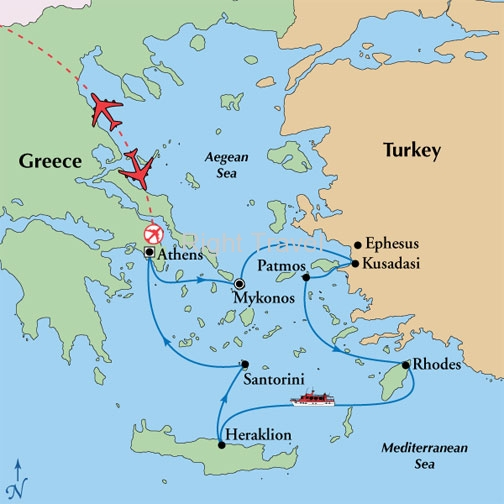 11 Day Classic Greece with 3 Day Iconic Aegean Cruise