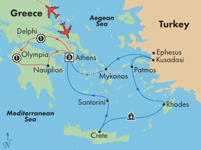11 Day Essential Greece with 4 Day Iconic Aegean Cruise