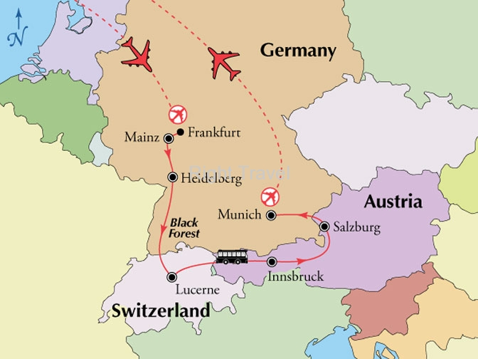 11 Day Germany, Switzerland & Austria