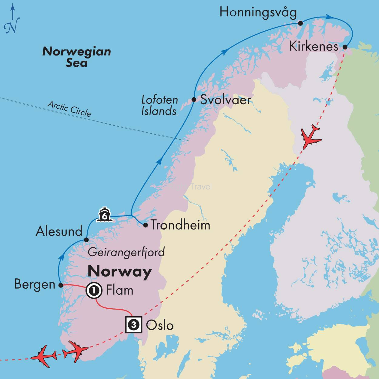 12 Day Norways Mountains & Fjords with 6 Day Scenic Coast Cruise