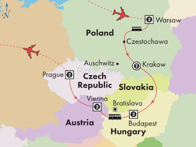 12 Day Affordable Central Europe with Warsaw & Krakow