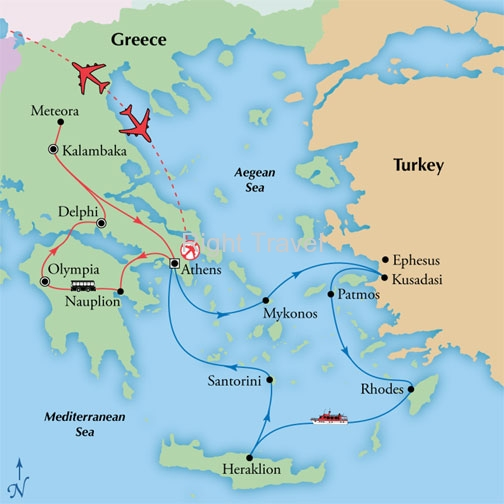 12 Day Classic Greece with 4 Day Iconic Aegean Cruise