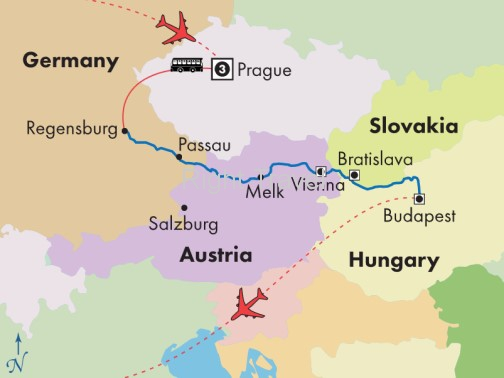 12 Day Danube Presidential River Cruise with Prague
