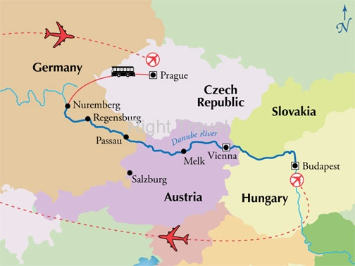 12 Day Danube River Cruise with Prague
