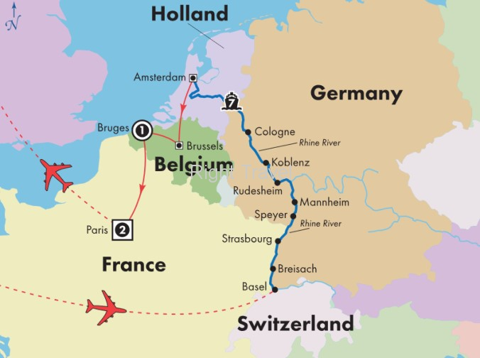 12 Day Rhine River Cruise with Bruges & Paris