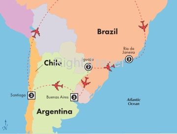 13 Day Classic Brazil, Argentina & Chile Tour