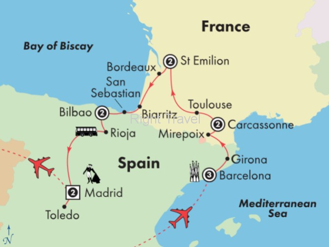 13 Day France & Spain: History, Culture & Wine