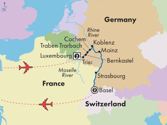 13 Day Moselle & Lower Rhine River Cruise with Luxembourg & Basel