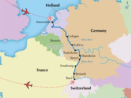 13 Day Rhine River Cruise with Amsterdam & Lucerne