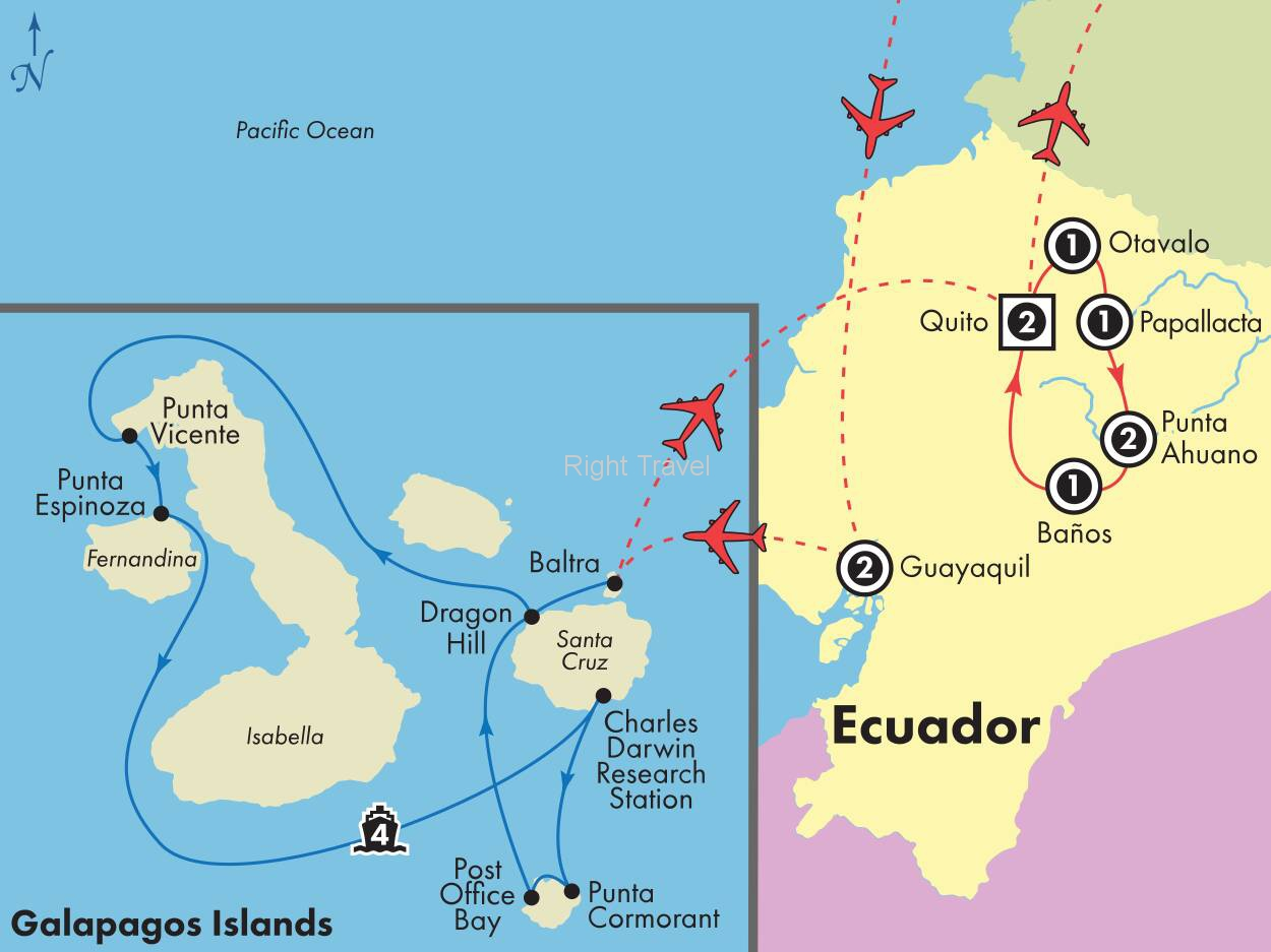 14 Day Ecuador with 4 Day Western Galapagos Cruise