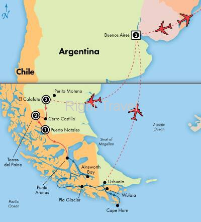 14 Day South American Glaciers, Forests & Lakes with 4 Day Patagonia Cruise