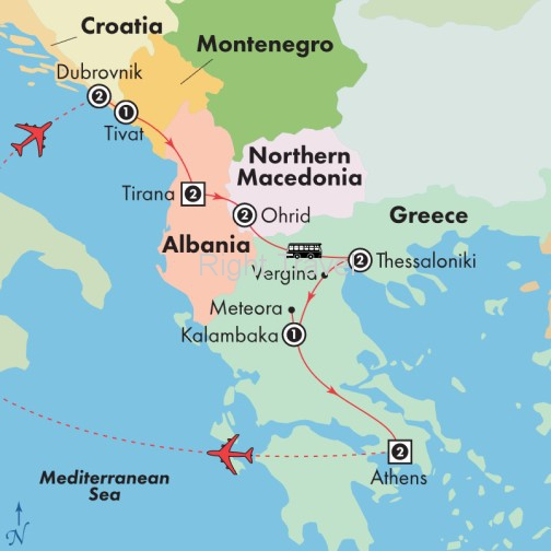 14 Day Adriatic Coast from Dubrovnik to Athens
