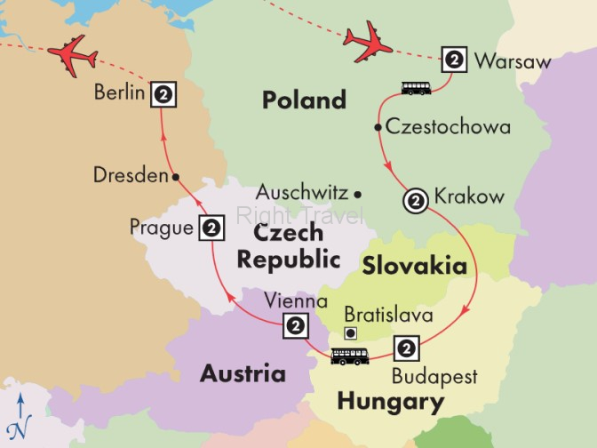 14 Day Affordable Central Europe with Warsaw, Krakow & Berlin