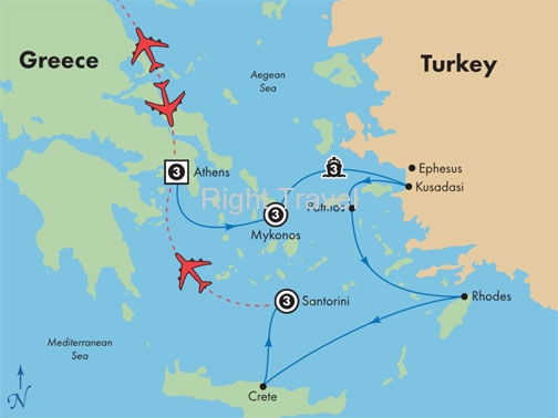 14 Day Athens, Mykonos & Santorini with 4 Day Iconic Aegean Cruise