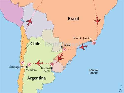 14 Day Classic Brazil, Argentina & Chile with Mendoza Wine Country