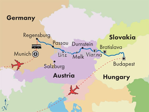 14 Day Danube River Cruise with Munich & Budapest