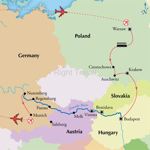 14 Day Danube River Cruise with Warsaw, Krakow & Budapest