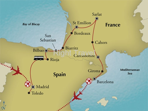 14 Day France and Spain History Culture and Wine