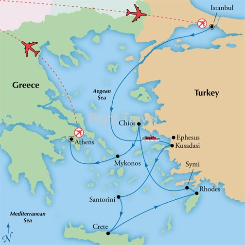 15 Day Classic Greece with 7 Day Aegean Cruise
