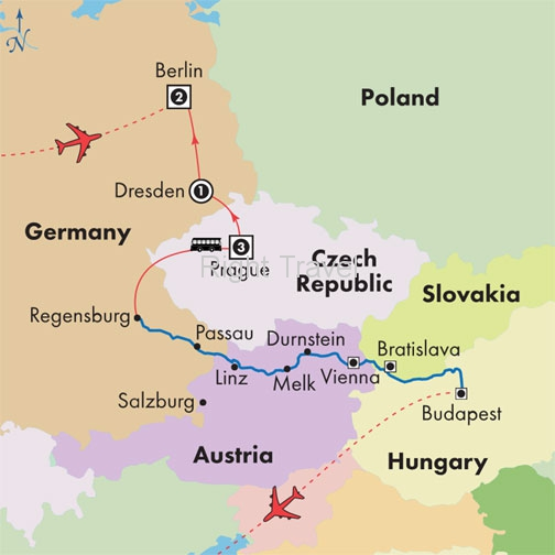 15 Day Danube River Cruise with Berlin, Dresden & Prague