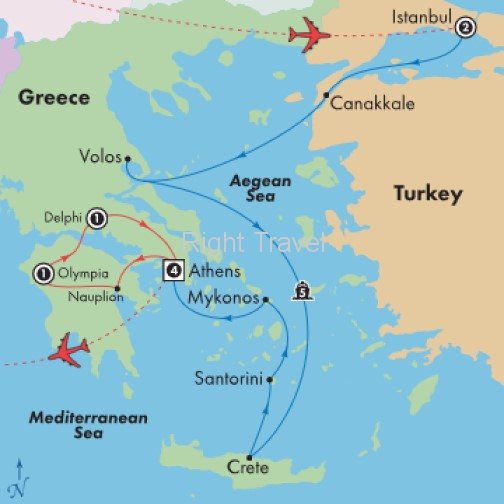 15 Day Essential Greece & Istanbul with 5 Day Aegean Cruise