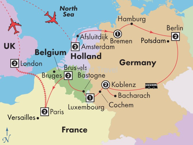 16 Day Holland, Germany, Luxembourg & Belgium with Paris & London