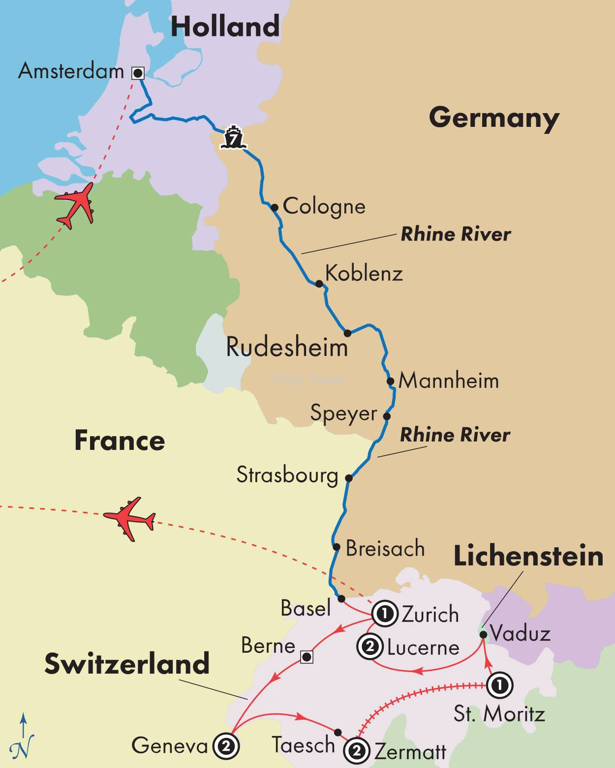 17 Day Classic Switzerland with Rhine River Cruise