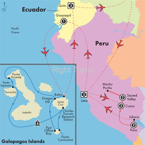 17 Day Peru with 4 Day Western Galapagos Cruise