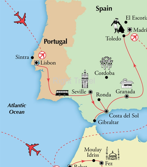 17 Day Portugal, Spain & Morocco