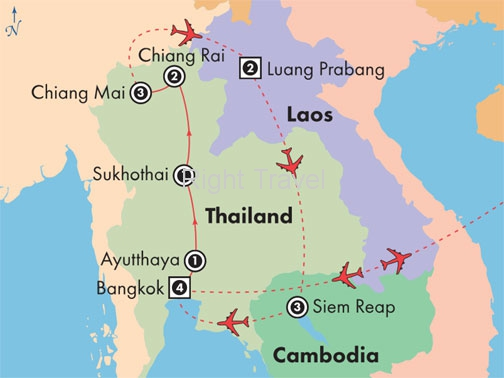 18 Day Classic Thailand with Laos & Cambodia
