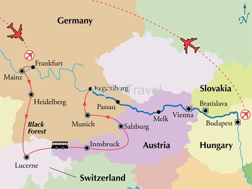 18 Day Danube River Cruise with Germany, Switzerland & Austria