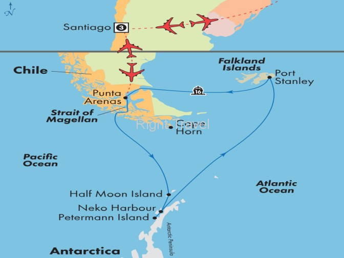 21 Day Antarctica Cruise with Chilean Fjords & Falkland Islands