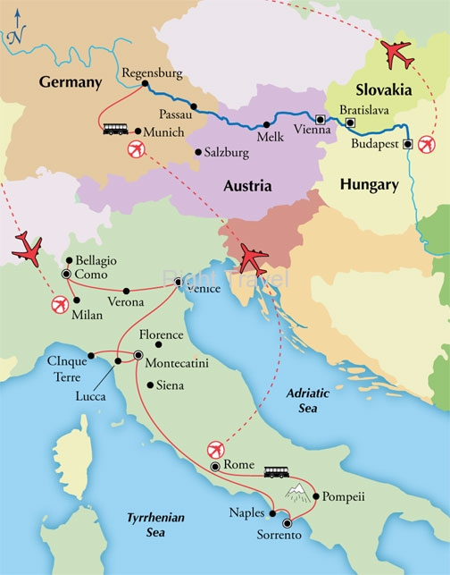 23 Day Italy & Danube River Cruise