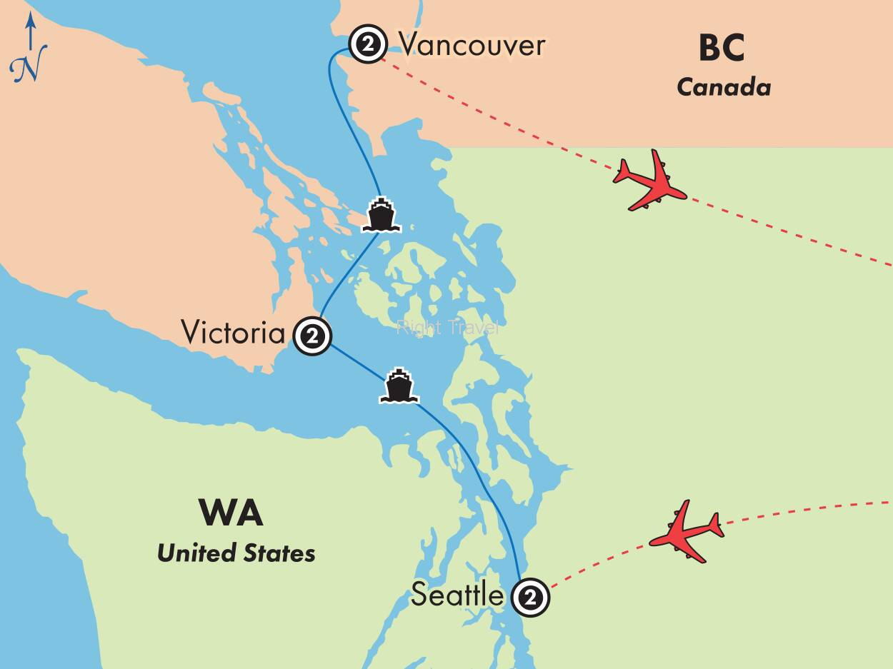 7 Day Seattle, Victoria & Vancouver