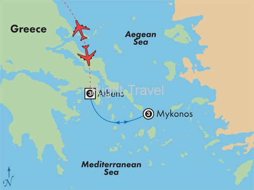 8 Day Athens & Mykonos