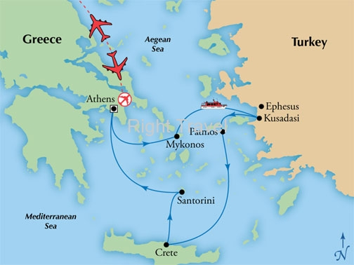 8 Day Athens with 4 Day Iconic Aegean Cruise